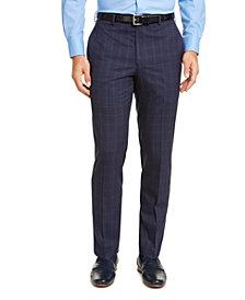 Lauren Ralph Lauren Men's Classic-Fit UltraFlex Stretch Blue Windowpane Dress Pants