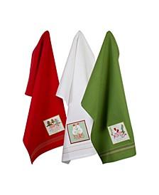 Assorted Cozy Christmas Embellished Dishtowel Set