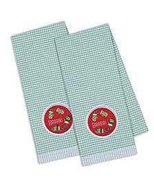 Brrrr Mittens Embroidered Dishtowel
