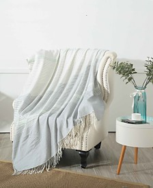 """Small World Home Ludlow 50"""" x 60"""" Knitted Throw"""