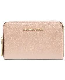 Michael Michael Kors Jet Set Leather Zip-Around Card Case