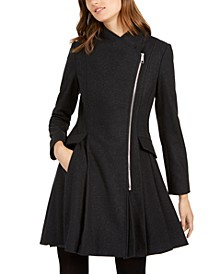 Asymmetrical Skirted Walker Coat