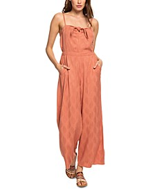 Juniors' Feel The Retro Spirit Jacquard Jumpsuit