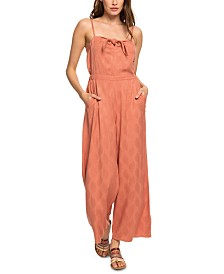 Roxy Juniors' Feel The Retro Spirit Jacquard Jumpsuit