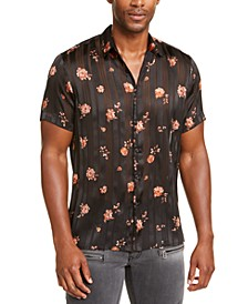 INC Men's Parker Floral Short-Sleeve Shirt, Created for Macy's