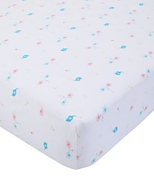 Carter's Cotton Sateen Crib Sheet - Elephants & Hearts