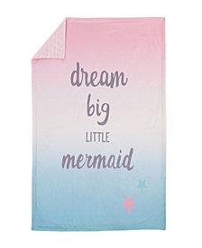 Sugar Reef Mermaid Ombre Baby Blanket