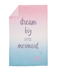 Sugar Reef Mermaid Ombre Baby Blanket