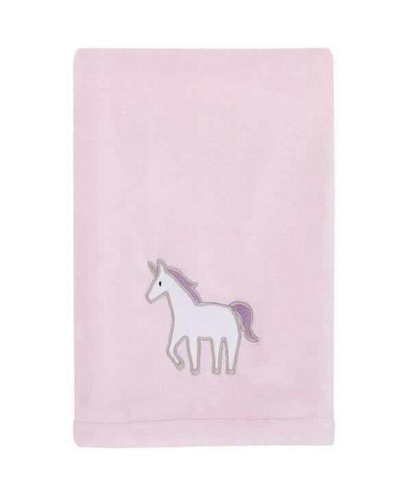Carter's Unicorn Snuggles Plush Blanket with Applique
