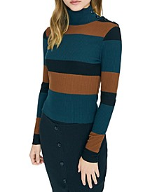 Striped Mandy Mock Neck Sweater