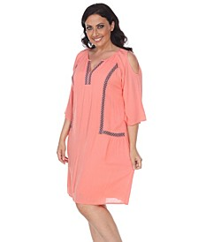 Women's Plus Size Marybeth Embroidered Dress