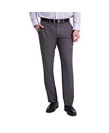 Comfort Stretch Stria Slim Fit Flat Front Dress Pant