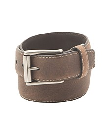 Men's Grain Feather Edge Belt