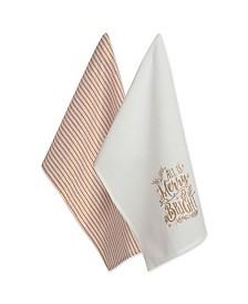 Design Imports Assorted Merry Bright Christmas Printed Dishtowel Set