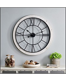 """Firstime & Co 27"""" Timeworn Cottage Wall Clock"""
