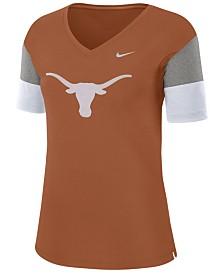 Nike Women's Texas Longhorns Breathe V-Neck T-Shirt