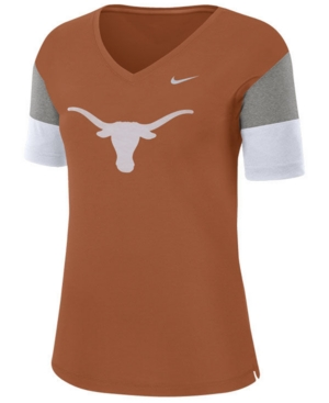 Nike Women's Texas Longhorns Breathe V-Neck T-Shirt