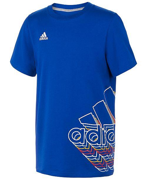adidas Big Boys Logo-Print T-Shirt