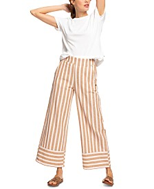 Roxy Juniors' Wild Ideas Striped Culotte Pants