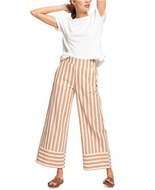 Roxy Juniors' Wild Ideas Striped Culotte Pants