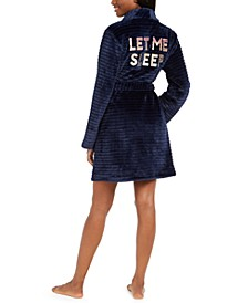 Let Me Sleep Plush Robe, Created for Macy's