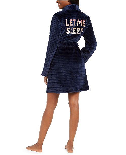 Jenni Let Me Sleep Plush Robe, Created for Macy's