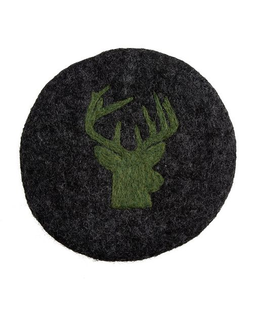 Thirstystone CLOSEOUT! Round Felt Deer Head Trivet