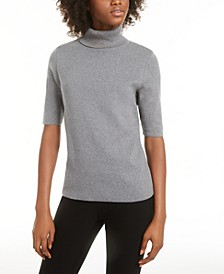 Elbow-Sleeve Turtleneck Sweater, Created for Macy's