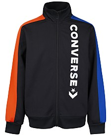 Converse Big Boys Colorblocked Logo-Print Full-Zip Track Jacket