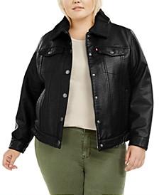 LeatherSherpa Lined Trucker Jacket