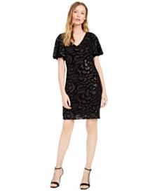 Calvin Klein Sequined Embossed Velvet Dress