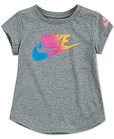 Little Girls Cotton Rainbow Logo T-Shirt