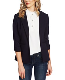 CeCe 3/4-Sleeve Bow-Detail Blazer
