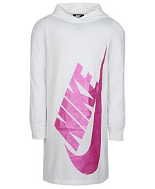 Nike Little Girls Logo-Print Hooded Dress