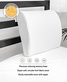 On-The-Go Gel-Infused Memory Foam Lumbar Back Support Pillow