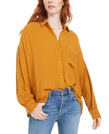 Free People Hidden Valley Button-Up Shirt