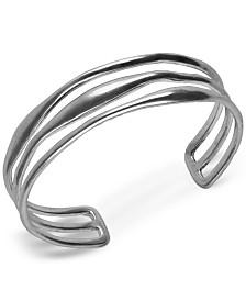 Lucky Brand Silver-Tone Triple-Row Cuff Bracelet