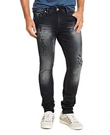 Men's Skinny Fit Midnight Acid Destroyed Morocco Jeans