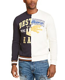 Men's Varsity Split Destruction Graphic Sweatshirt