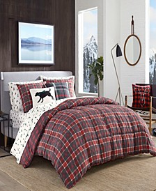 Timber Tartan Red Comforter Set, Full/Queen