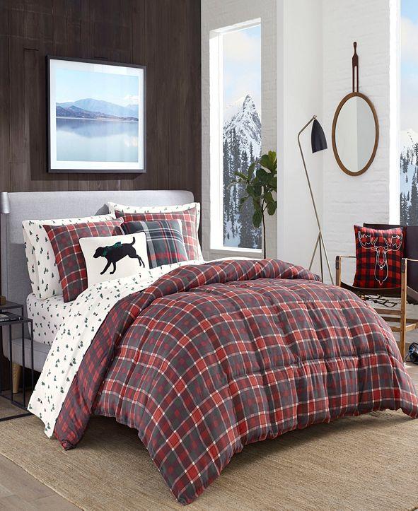 Eddie Bauer Timber Tartan Red Comforter Set, Full/Queen