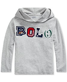 Polo Ralph Lauren Little Boys Hooded Jersey Shirt