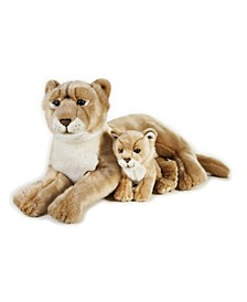 Lelly National Geographic Lioness With Baby Plush Toy