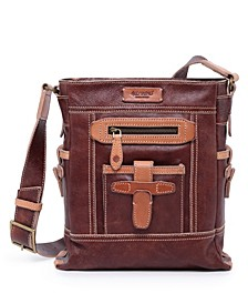 Leeds Castle Leather Crossbody Bag