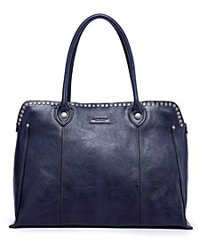 Soul Stud Leather Satchel Bag