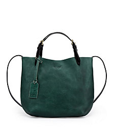 Old Trend Dip Dye Leather Tote