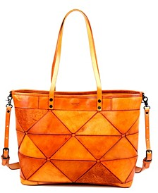 Prism Leather Tote Bag