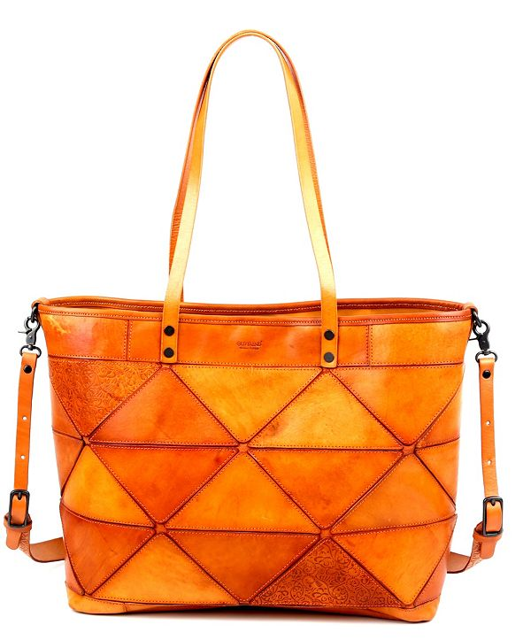 OLD TREND Prism Leather Tote Bag