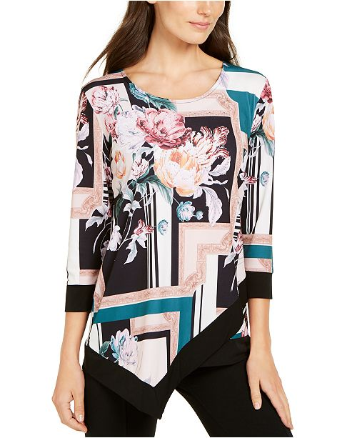 JM Collection Studded Asymmetrical Top, Created for Macy's