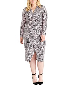 Plus Size Animal-Print Sheath Dress